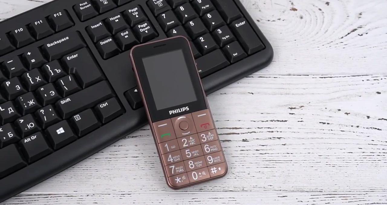 Philips Xenium E331 - кнопочный телефон филипс с мощным аккумулятором