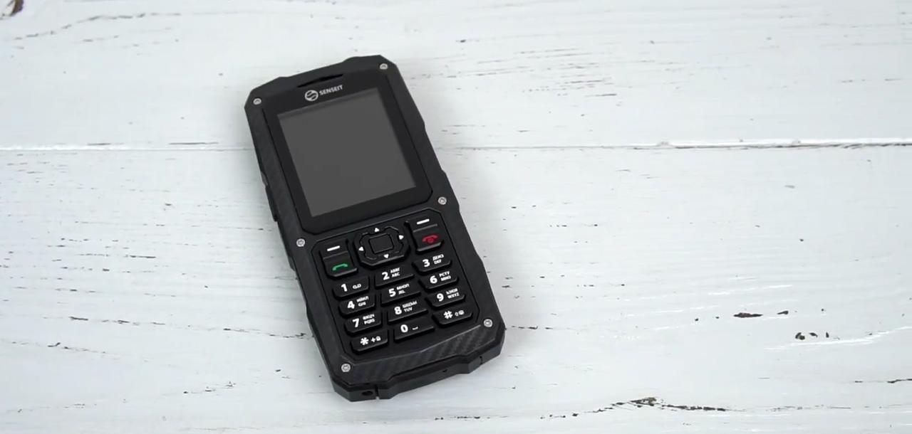 Senseit P210 - защищенный кнопочный телефон