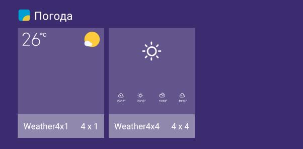 Виджет погоды на главный экран