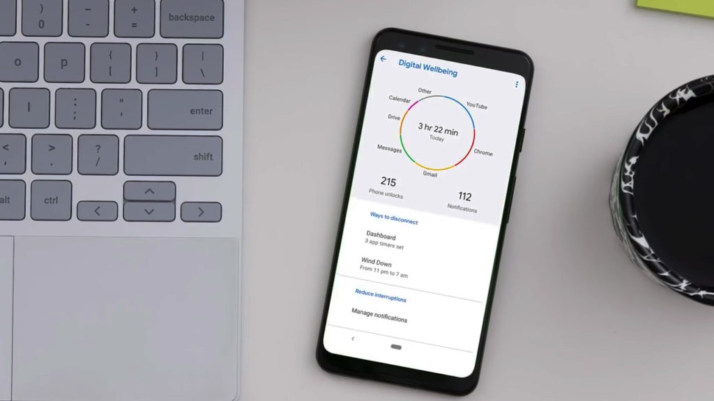 Цифровое благополучие в Андроид Q