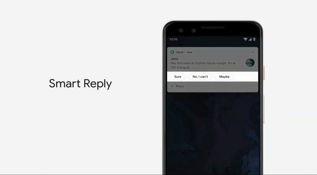 Smart reply в Android Q