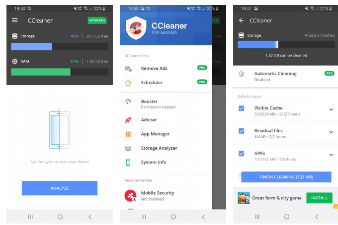 CCleaner для android