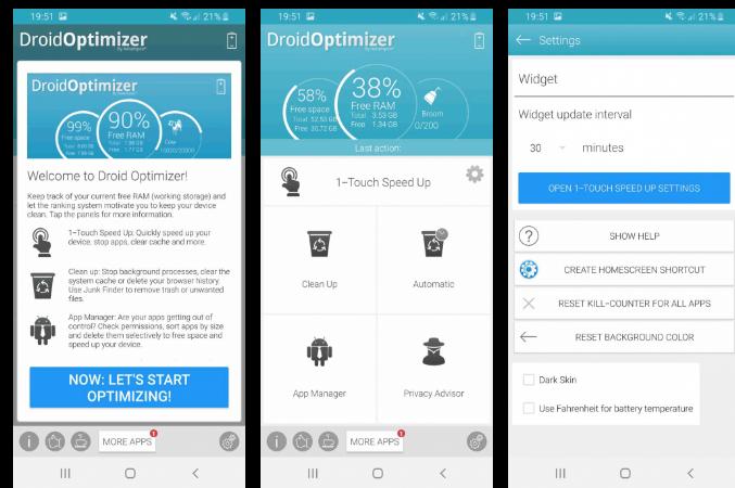 Приложение для очистки смартфона Droid Optimizer