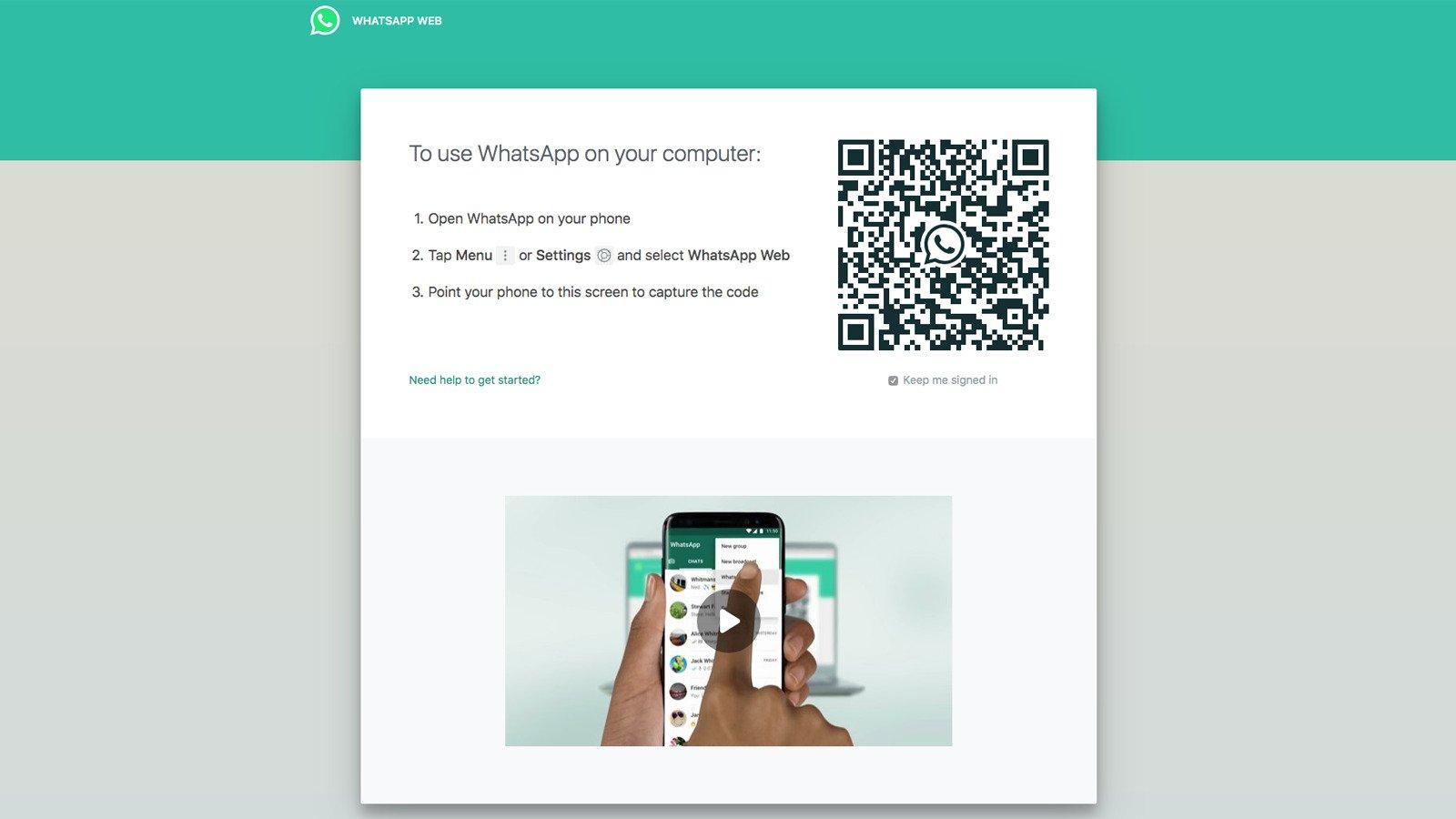Как зайти в WhatsApp в веб-браузере