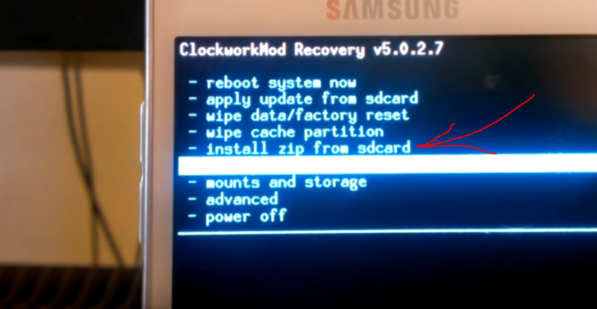 Install zip from sdcard на ClockworkMod