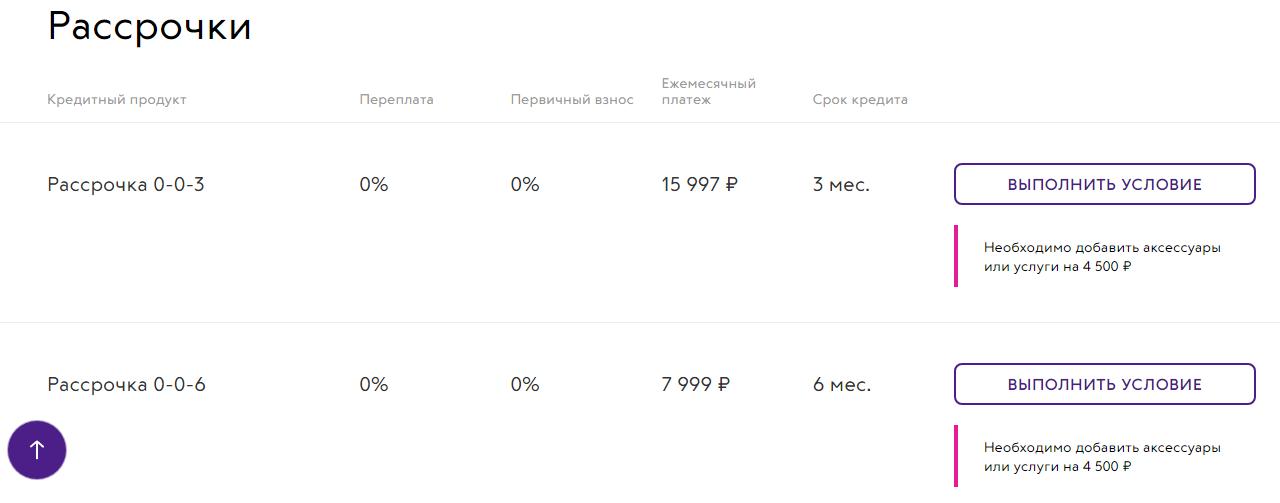 Условия рассрочки на покупку Айфона в Связном