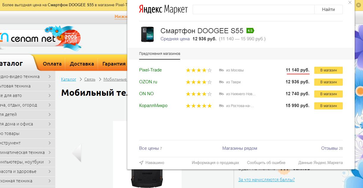 Цена на Doogee S55 в России