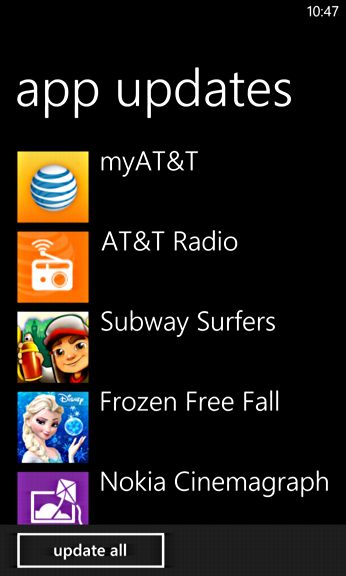 Как обновить приложения на Windows Phone