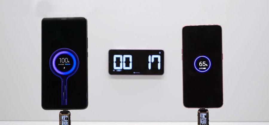 Новое зарядное устройство Xiaomi зарядит ваш телефон всего за 17 минут