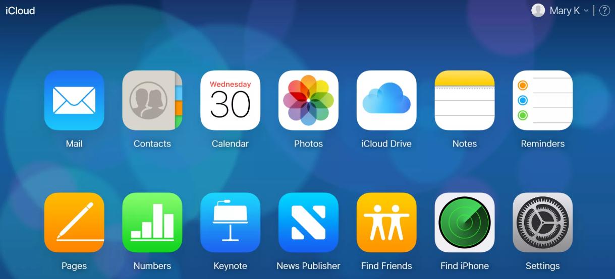 Как зайти в iCloud с android-смартфона