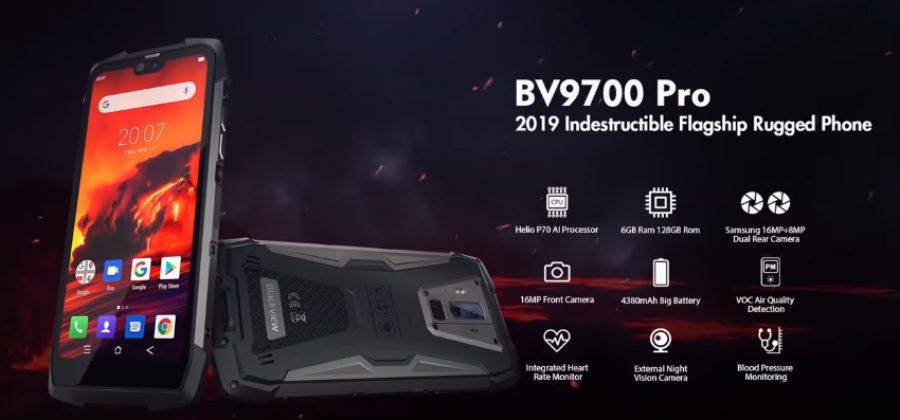 Blackview BV9700 Pro — защищенный смартфон с мощным аккумулятором