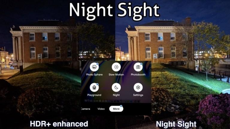 Google Camera с Night Sight