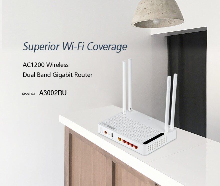 Wi-Fi роутер для большого дома Totolink A3002Ru